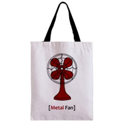 Metal Fan Zipper Classic Tote Bags