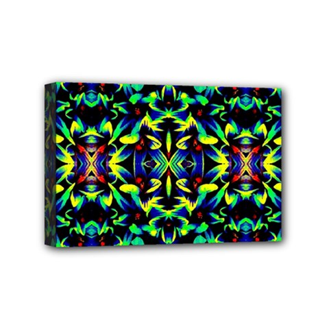 Cool Green Blue Yellow Design Mini Canvas 6  X 4  by Costasonlineshop