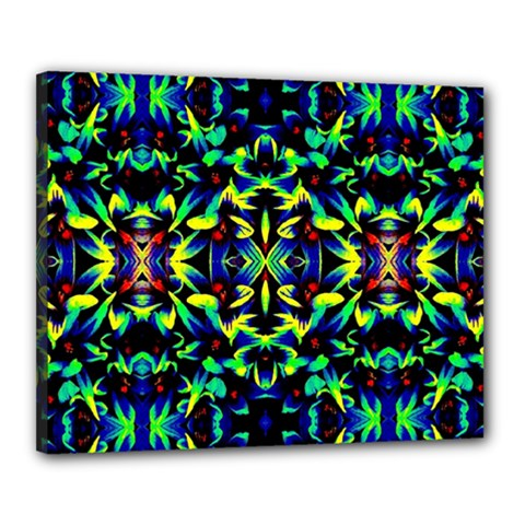 Cool Green Blue Yellow Design Canvas 20  X 16  by Costasonlineshop