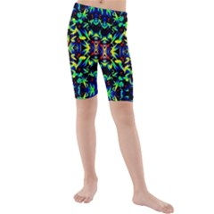Cool Green Blue Yellow Design Kid s Mid Length Swim Shorts by Costasonlineshop