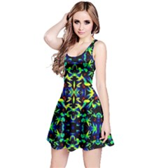 Cool Green Blue Yellow Design Reversible Sleeveless Dresses by Costasonlineshop