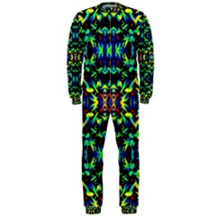 Cool Green Blue Yellow Design Onepiece Jumpsuit (men)  by Costasonlineshop