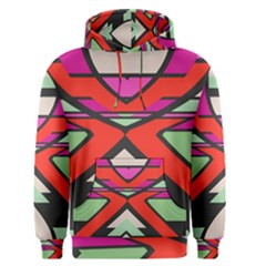 Shapes In Retro Colors Men s Pullover Hoodie