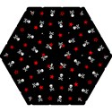Stars, Skulls And Crossbones Mini Folding Umbrellas View1