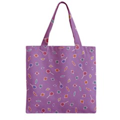 Candy Bag Zipper Grocery Tote Bag by Ellador