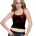 DARK RED BIRD Spaghetti Strap Bra Tops View1