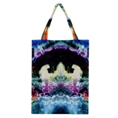 Space Cosmos Black Blue White Red Classic Tote Bags by Costasonlineshop