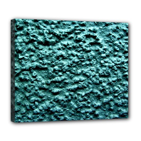 Blue Green  Wall Background Deluxe Canvas 24  X 20   by Costasonlineshop