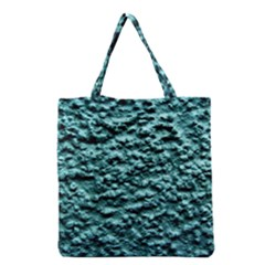 Blue Green  Wall Background Grocery Tote Bags by Costasonlineshop