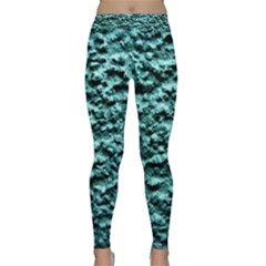 Blue Green  Wall Background Yoga Leggings by Costasonlineshop