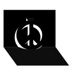 Black Gothic Peace Sign 3d Greeting Card (7x5)  by Costasonlineshop