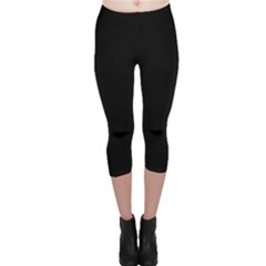 Black Gothic Capri Leggings