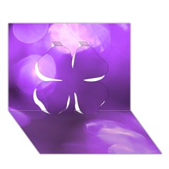 Purple Circles Clover 3d Greeting Card (7x5)  by timelessartoncanvas