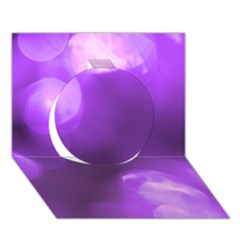Purple Circles Circle 3d Greeting Card (7x5)  by timelessartoncanvas