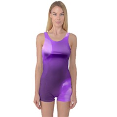 Purple Circles One Piece Boyleg Swimsuit by timelessartoncanvas