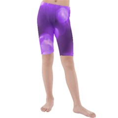 Purple Circles Kid s Mid Length Swim Shorts by timelessartoncanvas