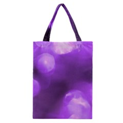 Purple Circles Classic Tote Bags by timelessartoncanvas