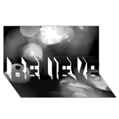 Black And White Circle Believe 3d Greeting Card (8x4)  by timelessartoncanvas
