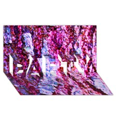 Purple Tree Bark Party 3d Greeting Card (8x4)  by timelessartoncanvas