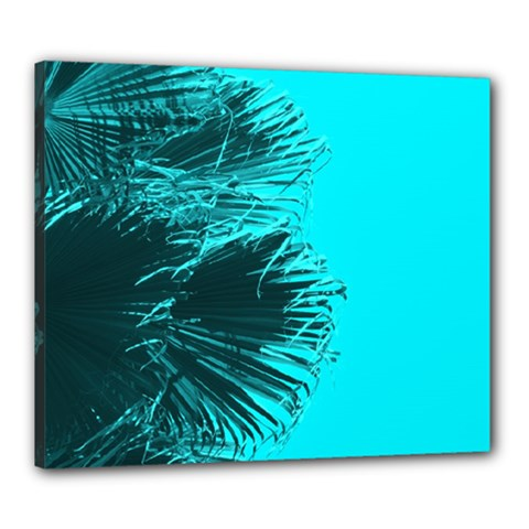 Modern Palm Leaves Canvas 24  X 20  by timelessartoncanvas