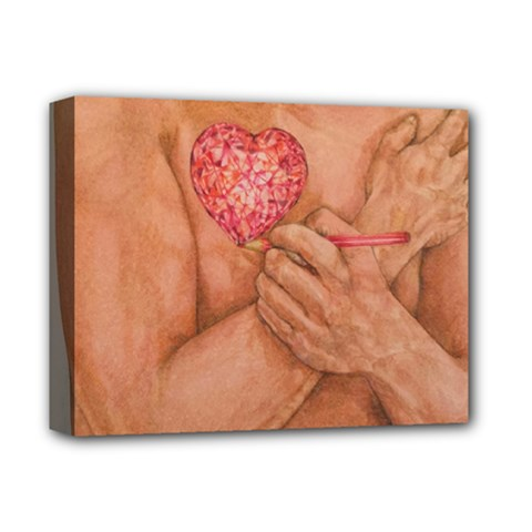 Embrace Love  Deluxe Canvas 14  X 11  by KentChua