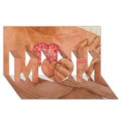 Embrace Love  Mom 3d Greeting Card (8x4)  by KentChua