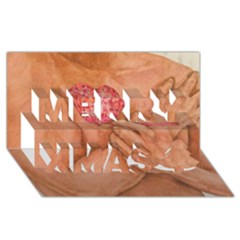 Embrace Love  Merry Xmas 3d Greeting Card (8x4)  by KentChua