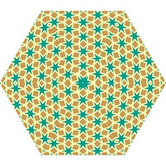 Stars And Squares Pattern Umbrella by LalyLauraFLM