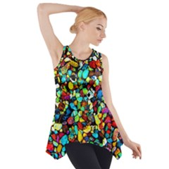 Colorful Stones, Nature Side Drop Tank Tunic by Costasonlineshop