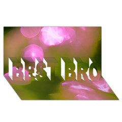 Pink And Green Circles Best Bro 3d Greeting Card (8x4)
