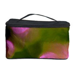 Pink And Green Circles Cosmetic Storage Cases by timelessartoncanvas