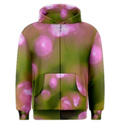 Pink And Green Circles Men s Zipper Hoodies by timelessartoncanvas