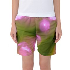 Pink And Green Circles Women s Basketball Shorts by timelessartoncanvas