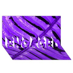 Purple Fern Engaged 3d Greeting Card (8x4)