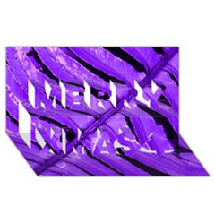 Purple Fern Merry Xmas 3d Greeting Card (8x4)  by timelessartoncanvas