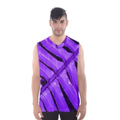 Purple Fern Men s Basketball Tank Top by timelessartoncanvas