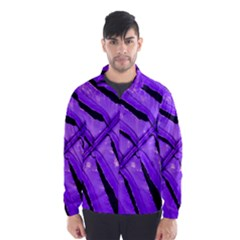 Purple Fern Wind Breaker (men) by timelessartoncanvas