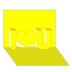 Beautiful Yellow I Love You 3d Greeting Card (7x5)  by Costasonlineshop