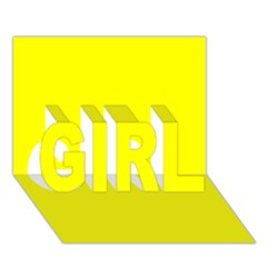 Beautiful Yellow Girl 3d Greeting Card (7x5)  by Costasonlineshop