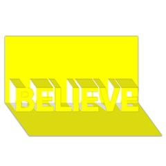 Beautiful Yellow Believe 3d Greeting Card (8x4)  by Costasonlineshop