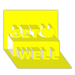 Beautiful Yellow Get Well 3d Greeting Card (7x5)  by Costasonlineshop