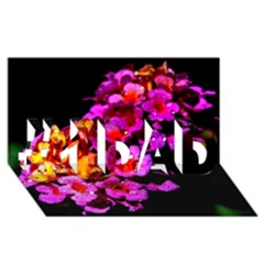 Lantanas #1 Dad 3d Greeting Card (8x4)