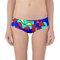 Colorful Bent Shapes Classic Bikini Bottoms by LalyLauraFLM