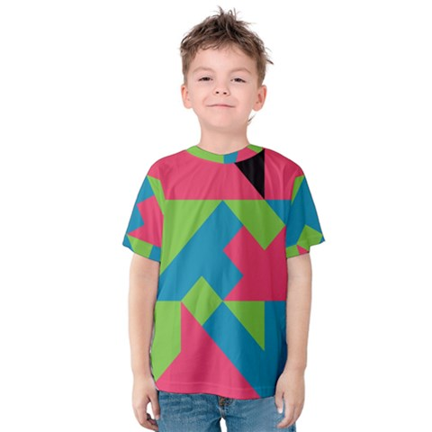 Angles Kid s Cotton Tee by LalyLauraFLM