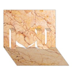 Stone Floor Marble I Love You 3d Greeting Card (7x5)  by essentialimage