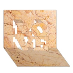 Stone Floor Marble Love 3d Greeting Card (7x5)  by essentialimage