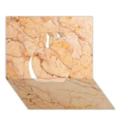 Stone Floor Marble Apple 3d Greeting Card (7x5)  by essentialimage