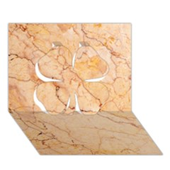 Stone Floor Marble Clover 3d Greeting Card (7x5)  by essentialimage