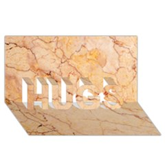 Stone Floor Marble Hugs 3d Greeting Card (8x4)  by essentialimage