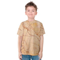 Stone Floor Marble Kid s Cotton Tee by essentialimage